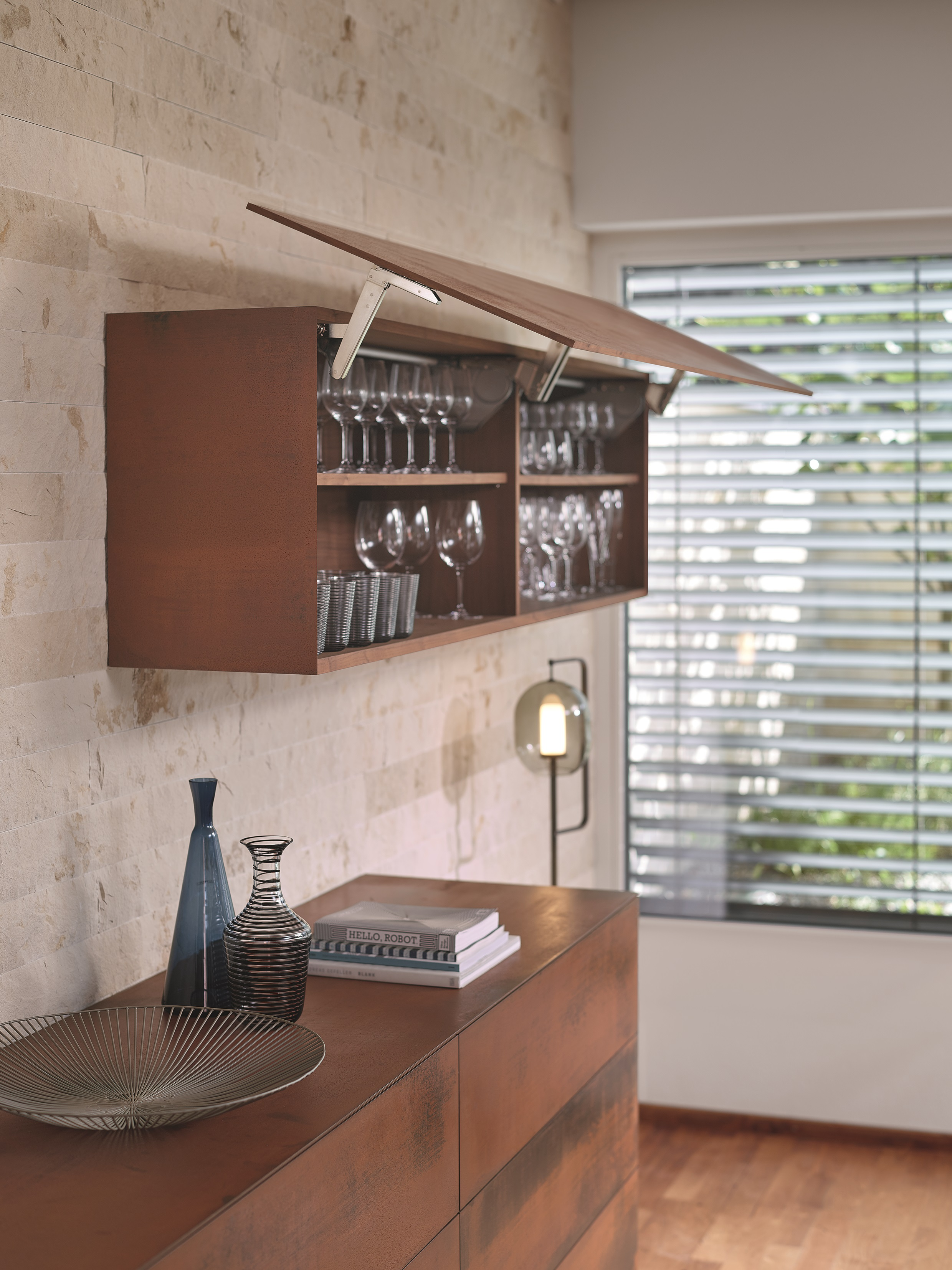Selected Types Of Aventos Flap System Can Also Be Mounted With The  Fastening System Expando T U2013 Convenient With The Unchanged Mounting  Position. Photo: Blum