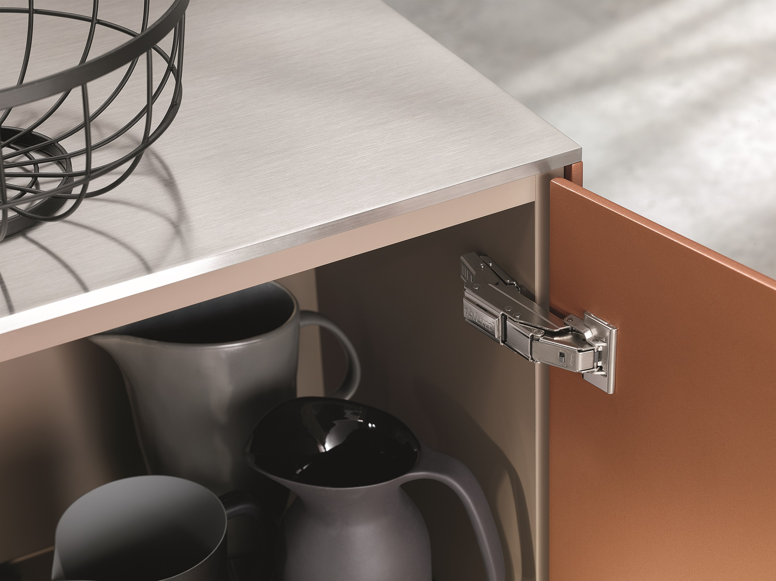 For Thin Door Fronts As Small As 8 Mm: The New Clip Top Blumotion Hinge  With Expando T, The Clever Mounting System. Photo: Blum