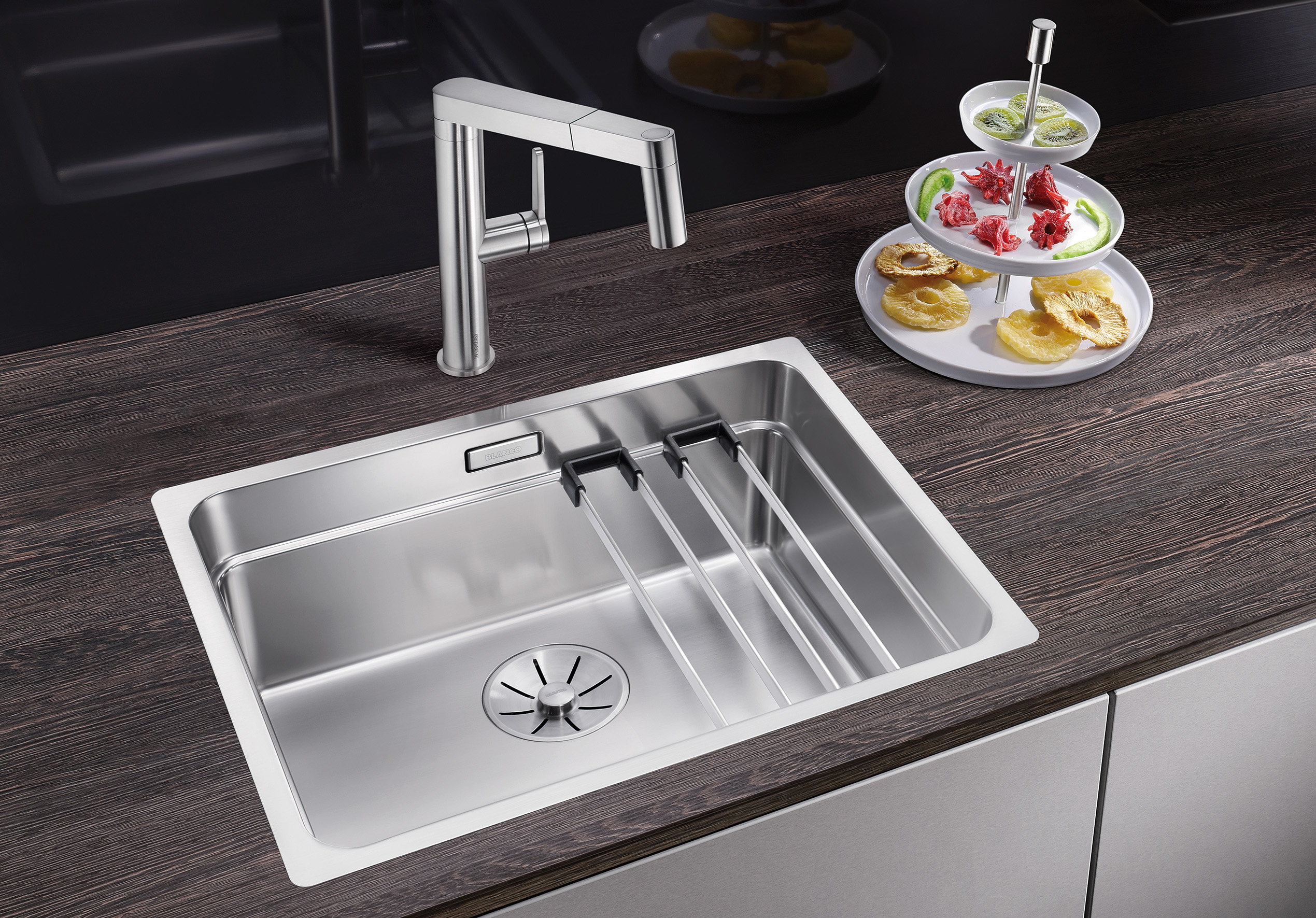 New Stainless Steel And Silgranit Blanco Etagon Three Tier Sink System Umaxo Com